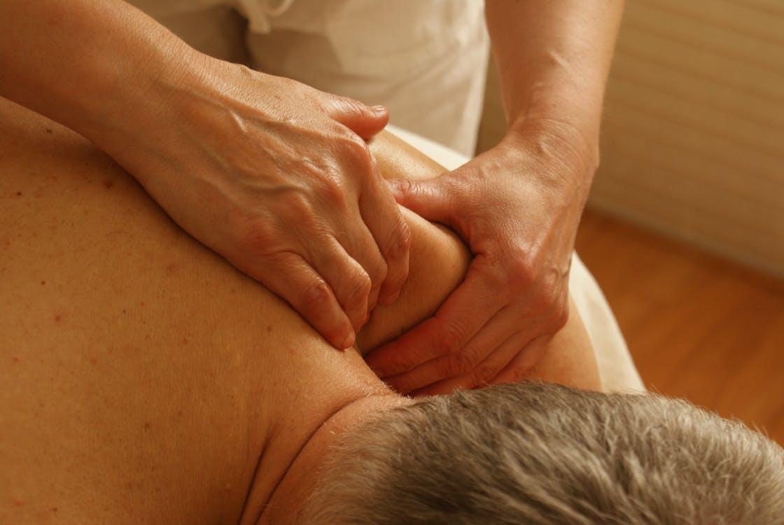 man getting a thai massage