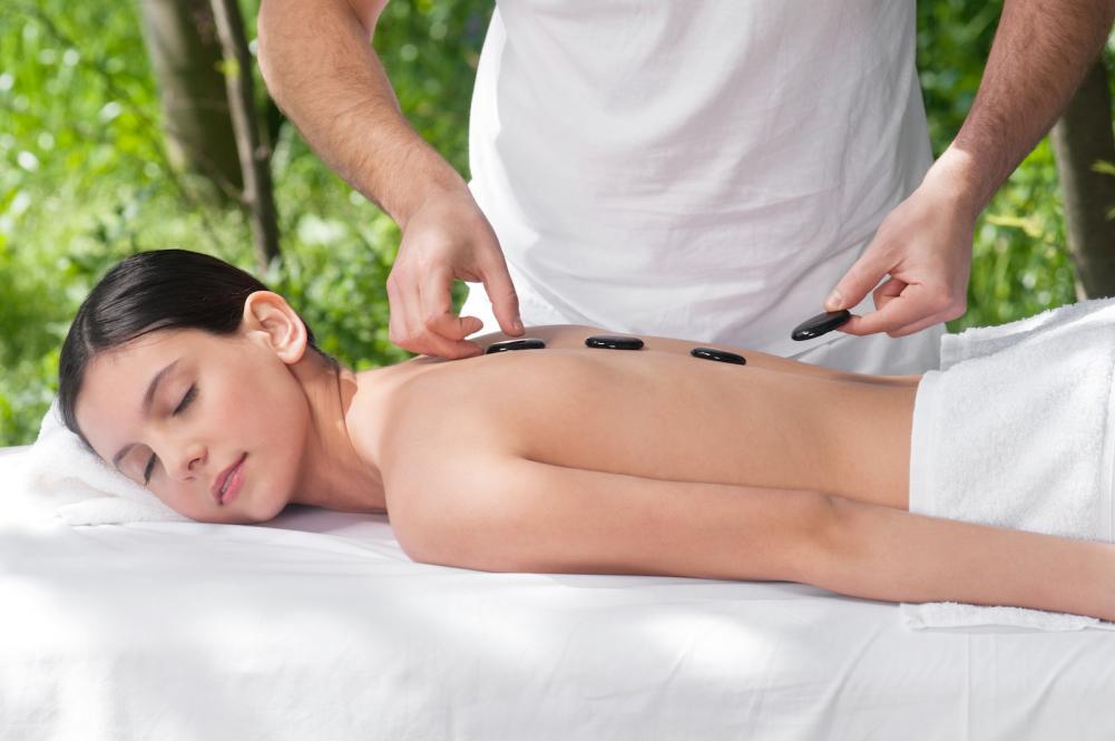 Person getting a massage