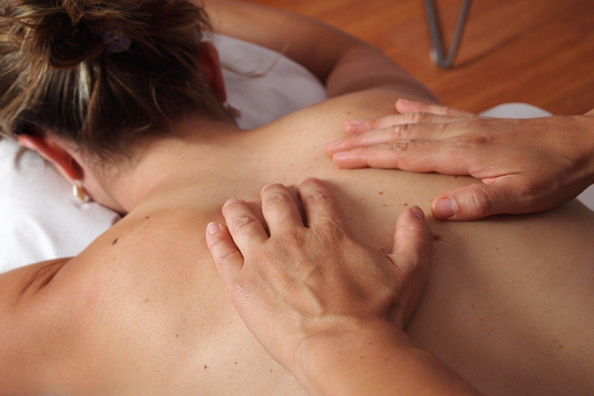 getting a massage in Edmonton