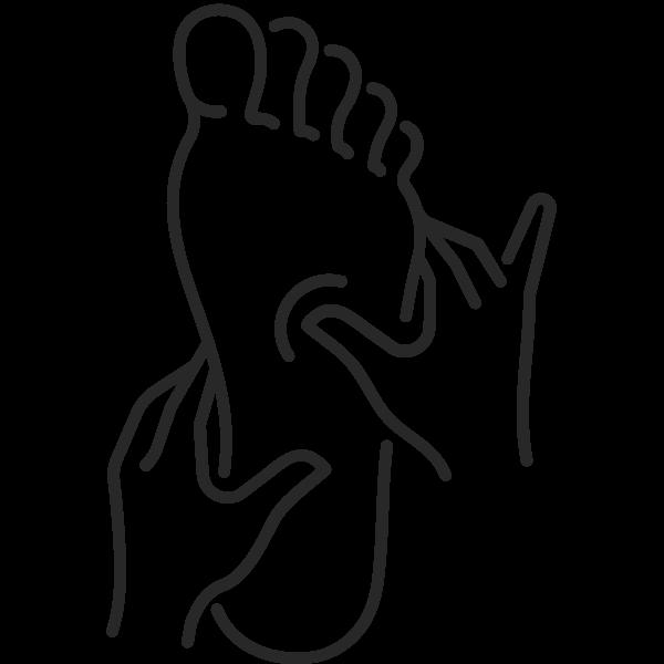 various foot massages